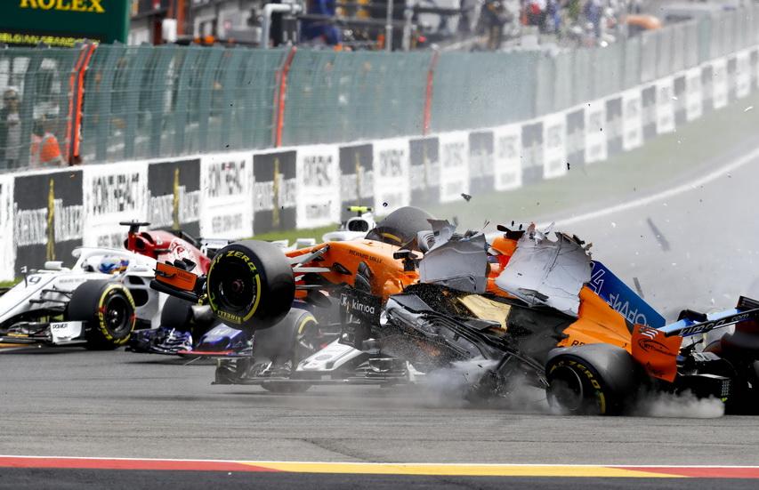 GP de Bélgica de F1: Alonso explica cómo fue el accidente de la salida