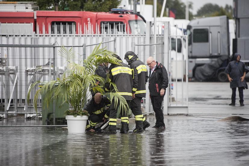 GP de Italia: diluvio en Monza