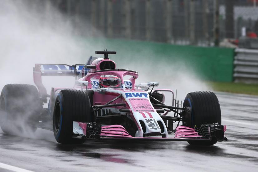 GP de Italia (FP1): la lluvia, las gomas intermedias y Pérez, los protagonistas