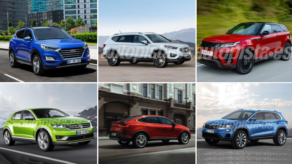 Todos los SUV que llegan hasta finales de 2018 y en 2019, por categorías