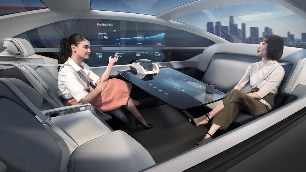 Volvo 360c Autonomous Concept: oficina, salón y dormitorio sobre ruedas