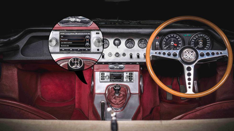 Los Land Rover y Jaguar clásicos, con sistema multimedia de coches modernos