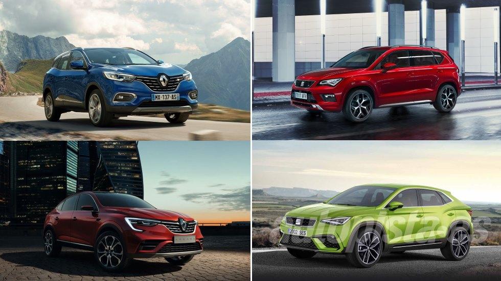 Los nuevos duelos SUV de Renault y Seat: Kadjar vs Ateca y Arkana vs CUV