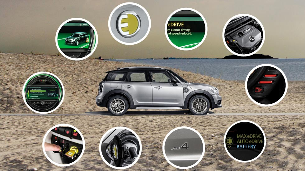 MINI Countryman Híbrido Enchufable: espíritu MINI con cero emisiones