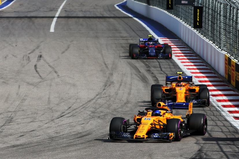GP de Rusia: Alonso poco pudo hacer en carrera