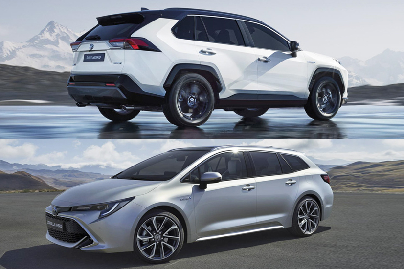 toyota rav4 y corolla hybrid 2019 m s fotos y datos oficiales sal n del autom vil de par s. Black Bedroom Furniture Sets. Home Design Ideas
