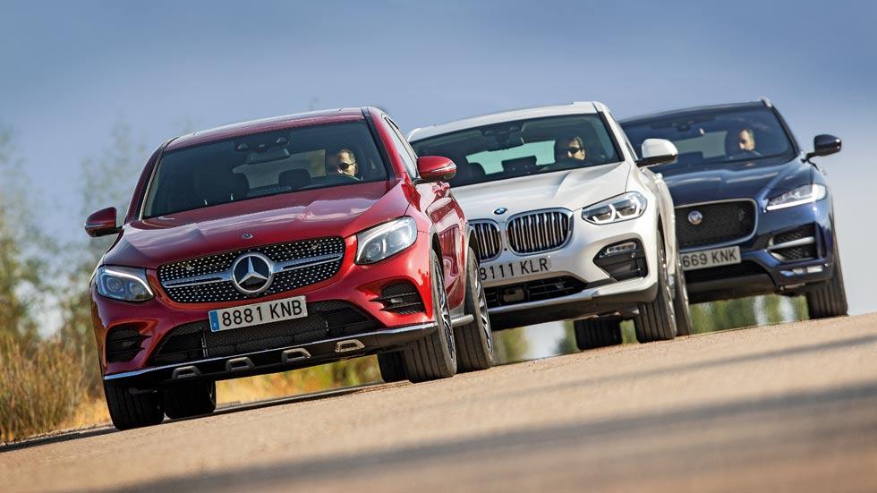 BMW X4, Jaguar F-Pace y Mercedes GLC Coupé: ¿qué SUV Diesel es mejor?