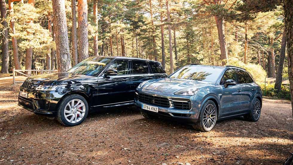 Porsche Cayenne E-Hybrid vs Range Rover Sport P400e: dos grandes SUV con etiqueta Cero