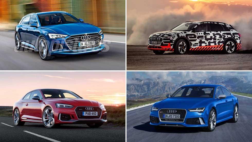 Ofensiva de Audi: 11 coches nuevos en 2019
