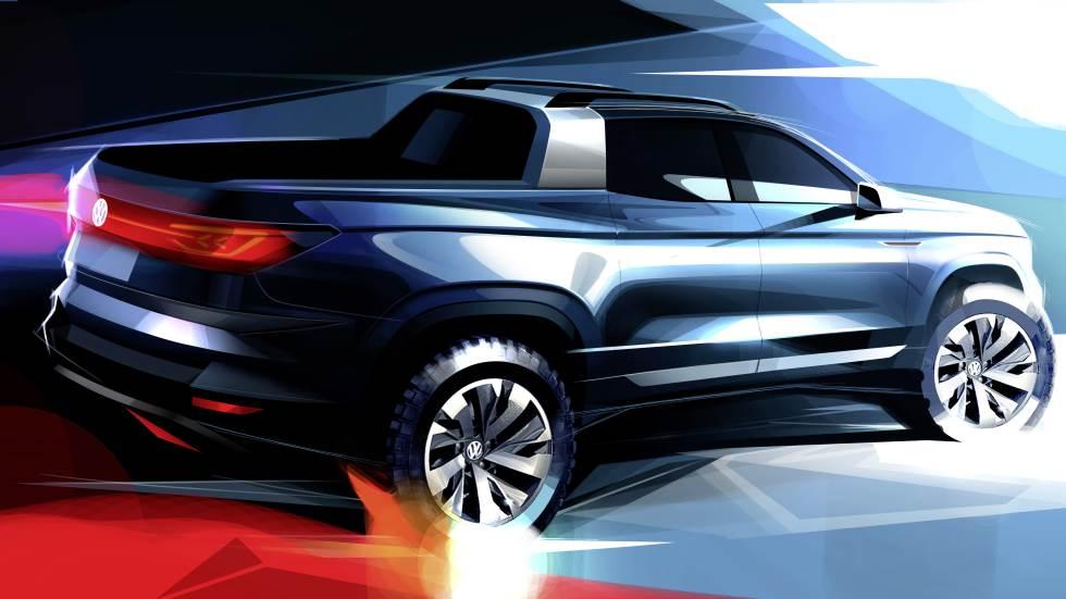 VW lanzará un nuevo pick-up compacto basado en el SUV Tiguan
