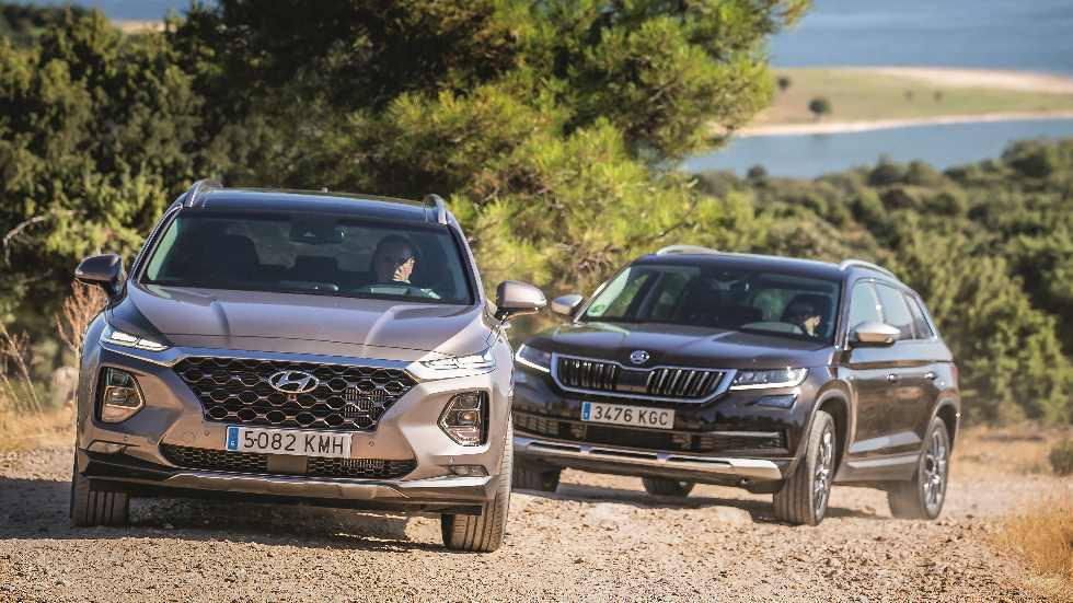 Hyundai Santa Fe vs Skoda Kodiaq: ¿qué SUV Diesel de 7 plazas es mejor?
