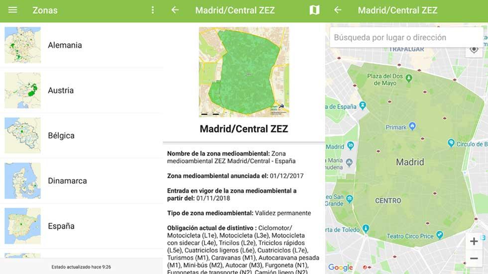 Descubre en tiempo real las restricciones de tráfico y qué coches pueden circular en cada ciudad