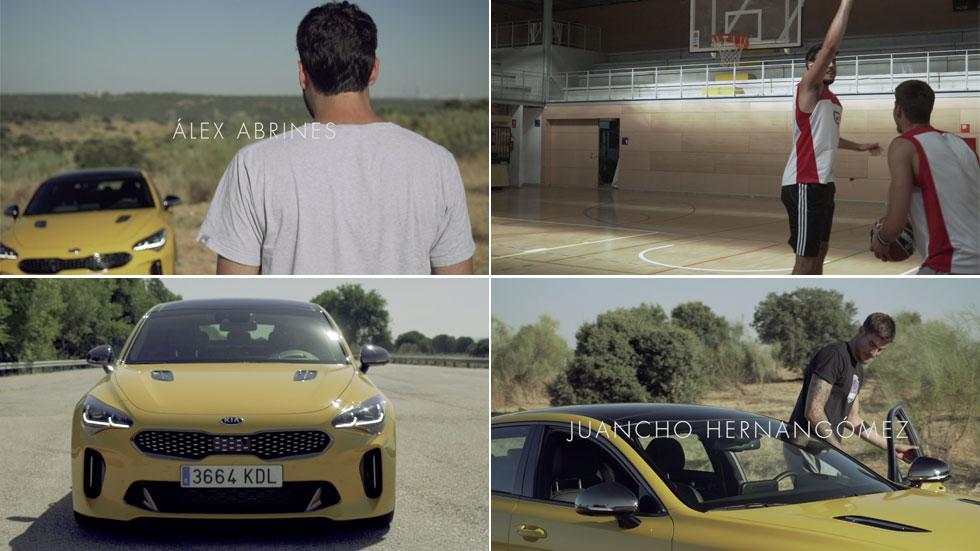 Kia Stinger GT, Abrines y Hernángomez: espíritu deportivo