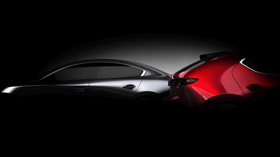 Mazda3 2019: primer teaser oficial del nuevo y revolucionario compacto