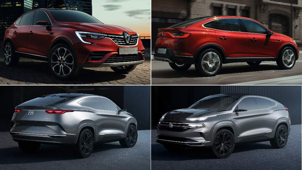 Fiat Fastback vs Renault Arkana: el nuevo duelo SUV coupé que viene