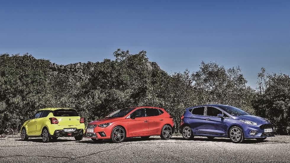Ford Fiesta, Seat Ibiza y Suzuki Swift: ¿cuál es mejor con motor de gasolina?