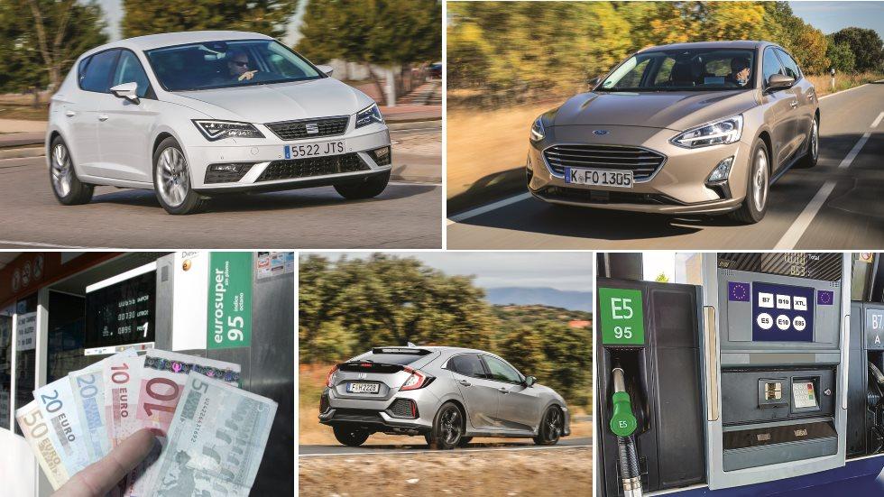 ¿Diesel  o Gasolina? Lo comparamos en Ford Focus, Honda Civic y Seat León