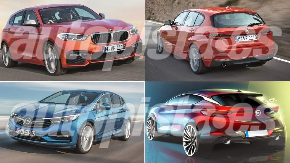 Opel Astra y BMW Serie 1: los nuevos compactos que vienen en 2019