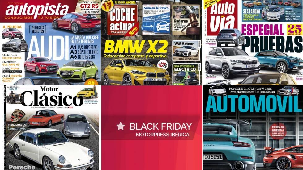 Black Friday 2018: tus revistas de coches favoritas, ¡al mejor precio!