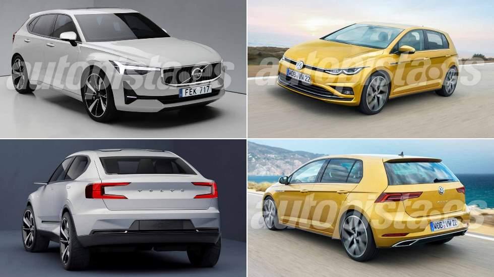 Volvo V40 vs VW Golf: el nuevo duelo de compactos de 2019
