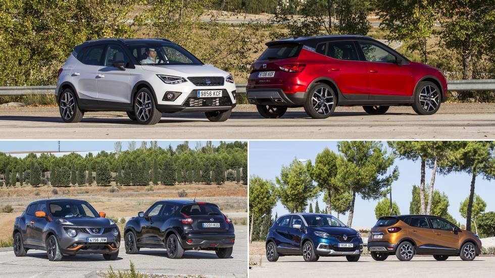Nissan Juke, Renault Captur y Seat Arona: los SUV, ¿mejor Diesel o gasolina?