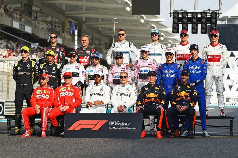 GP de Abu Dabi: la foto oficial de los pilotos