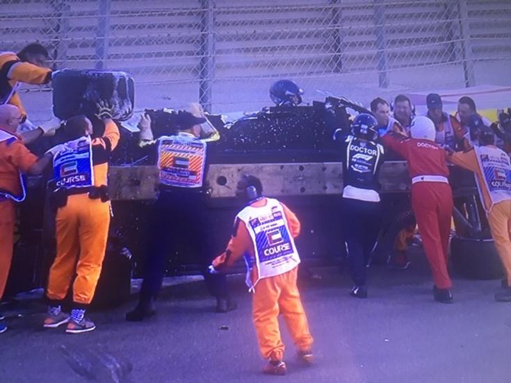 GP de Abu Dabi: espectacular accidente de Hulkenberg