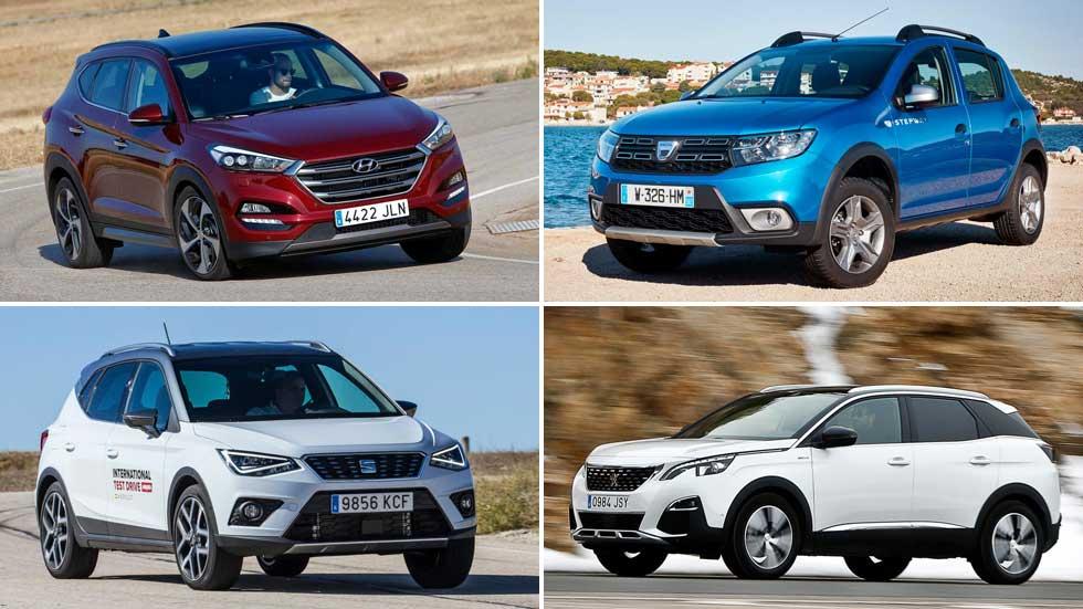 Los 10 coches y los 10 SUV más vendidos en noviembre en España