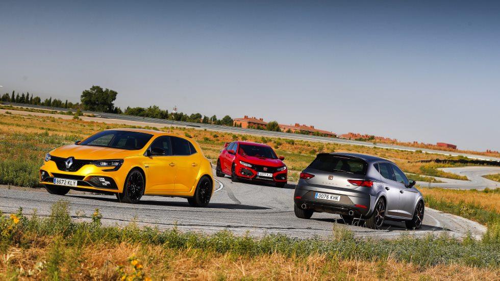 Honda Civic Type R, Seat León Cupra R y Renault Mégane RS Cup: los tres mejores GTI