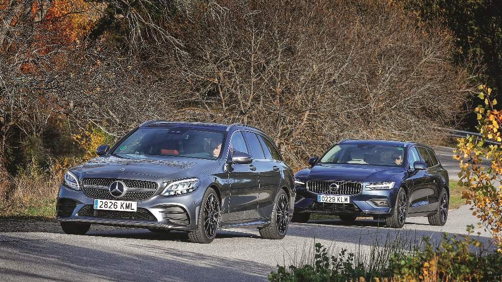 Mercedes Clase C Estate vs Volvo V60: ¿qué familiar Diesel es mejor?