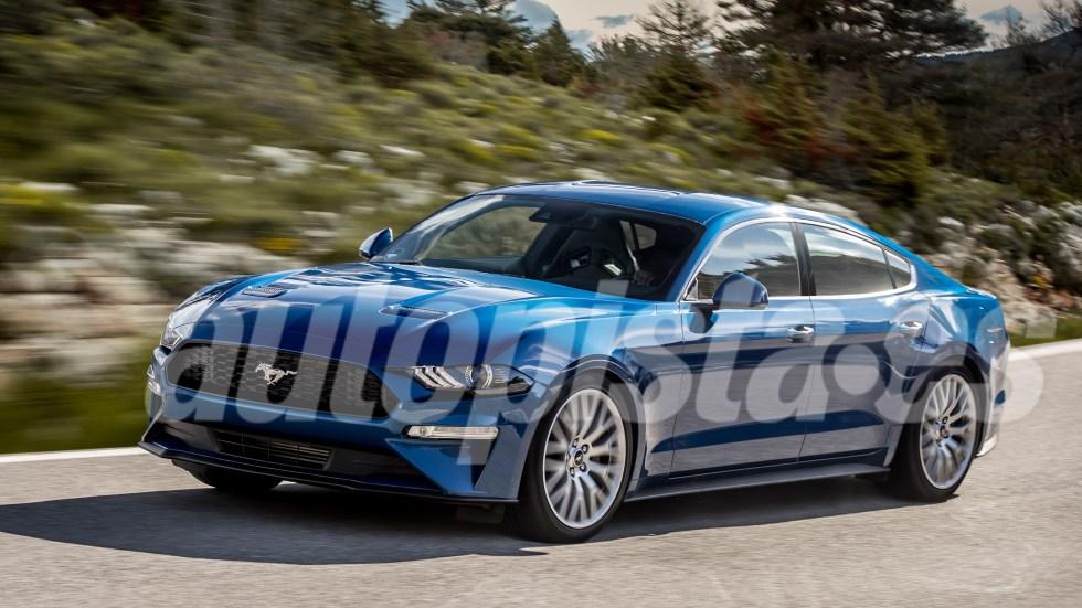 Ford Mustang 4 puertas: datos y primera foto de la berlina que llega en 2020