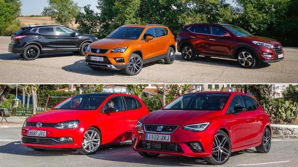 Los 10 coches y los 10 SUV más vendidos en España en 2018