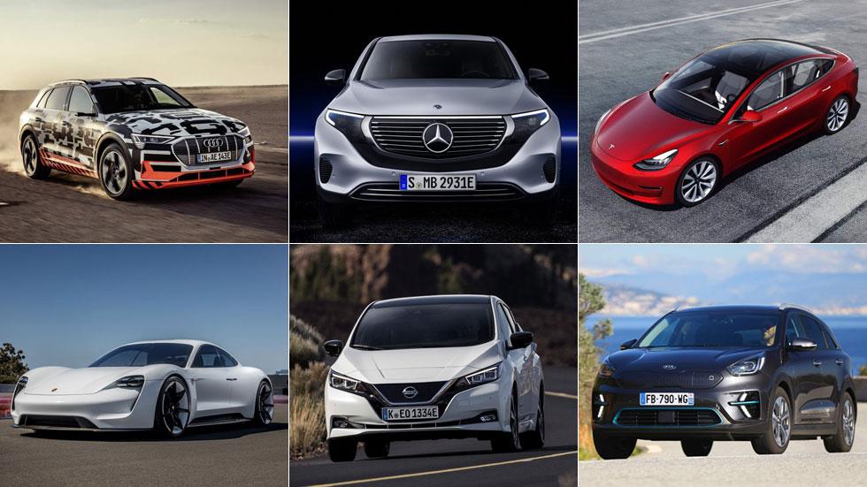Los mejores coches eléctricos que llegarán en 2019: e-Niro, Taycan, Model 3…