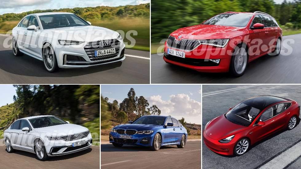 Las mejores berlinas de 2019: Serie 3, Passat, A4, Model 3…