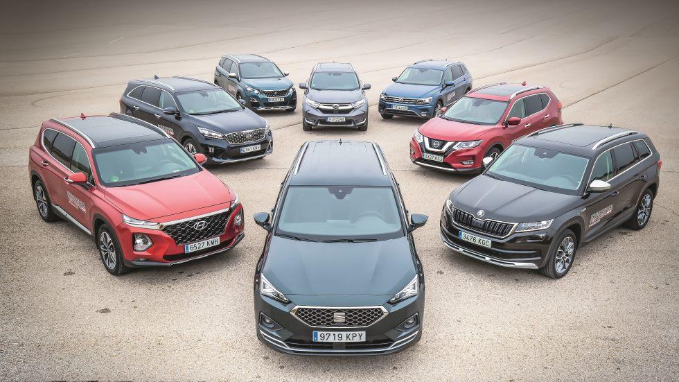 ¿El mejor SUV de 7 plazas? Comparativa: Santa Fe, CR-V, Tarraco, Tiguan, 5008, Kodiaq, X-Trail y Sorento