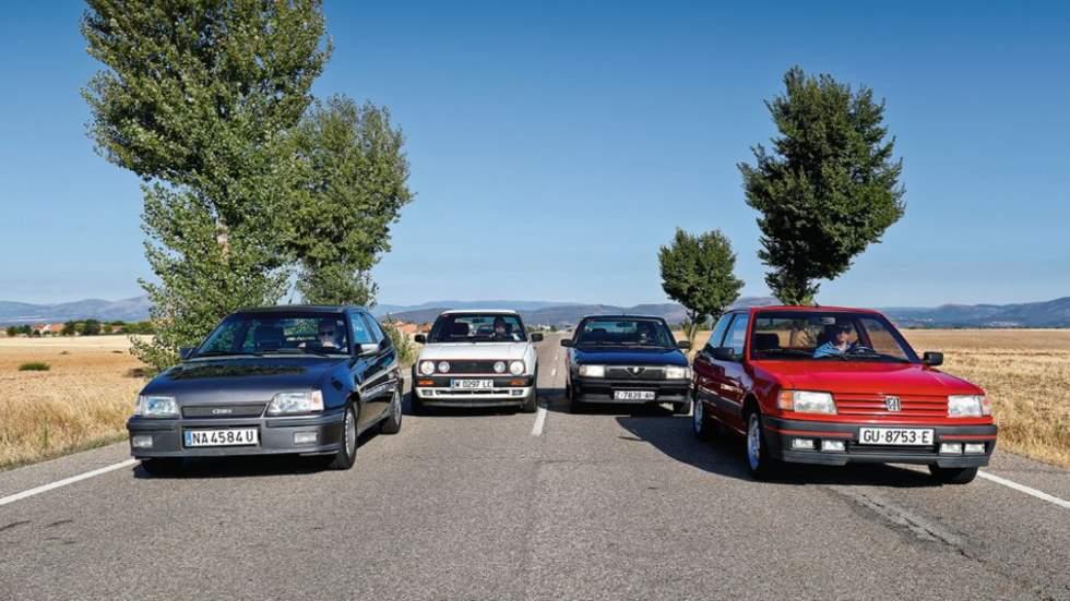 Coches GTi de los 80: Alfa 33 1.7 IE, Opel Kadett GSi, Peugeot 309 GTi y VW Golf GTi Mk2