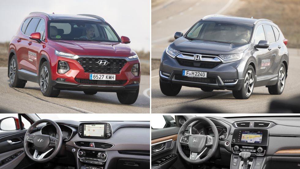 Hyundai Santa Fe vs Honda CR-V: ¿qué nuevo SUV es mejor? ¿Diesel o gasolina?