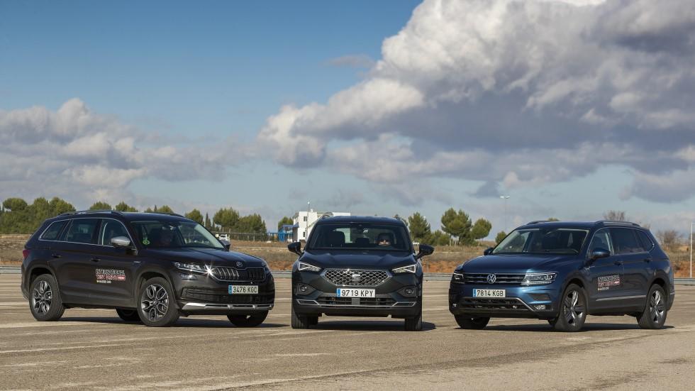 Seat Tarraco vs Skoda Kodiaq vs VW Tiguan Allspace: ¿qué nuevo SUV es mejor?