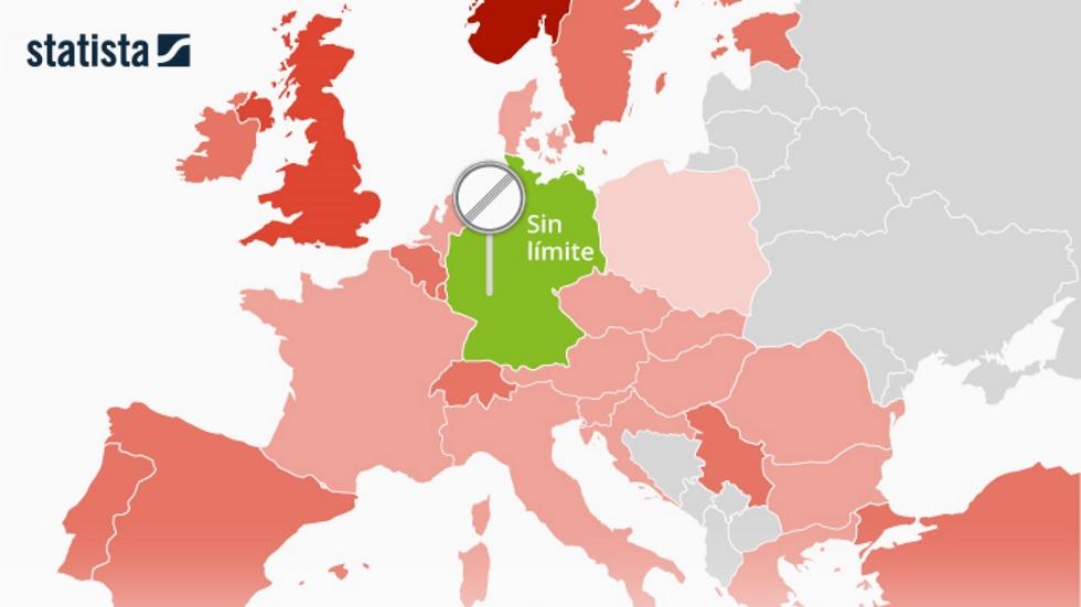 El mapa de la velocidad en las autopistas de Europa: así están todos los límites