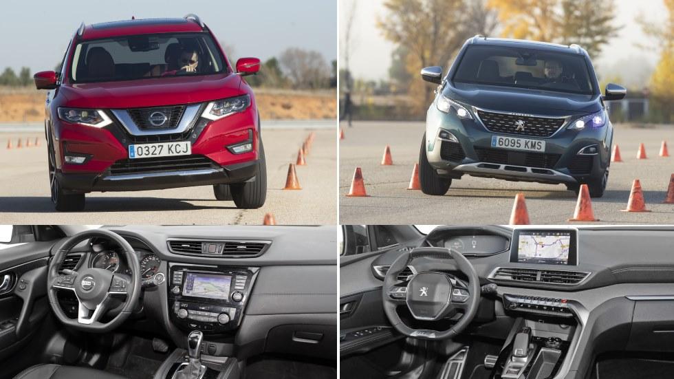 Nissan X-Trail dCi vs Peugeot 5008 BlueHDi: ¿qué SUV familiar Diesel es mejor?
