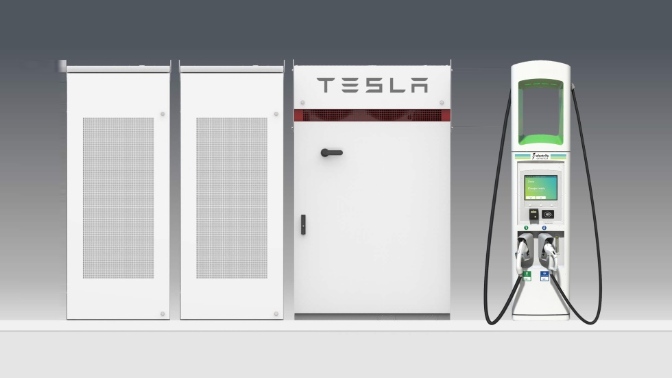 Los cargadores para eléctricos de Volkswagen emplearán baterías de Tesla