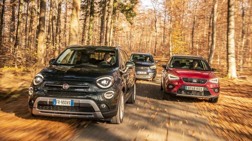 Fiat 500X, Opel Crossland X y Seat Arona: buscamos el mejor SUV de gasolina