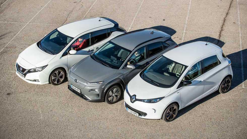 ¿Qué coche eléctrico es mejor? A prueba los Hyundai Kona EV, Nissan Leaf y Renault Zoe