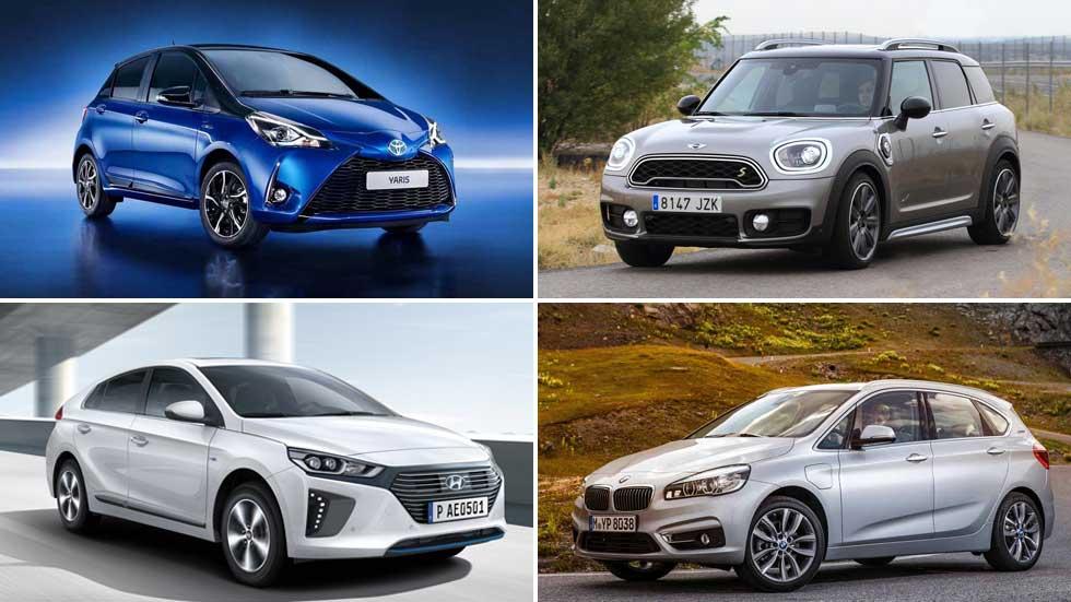 Los coches híbridos e híbridos enchufables más vendidos del momento