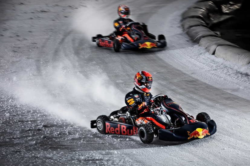Fórmula 1: los pilotos de Red Bull ruedan sobre hielo