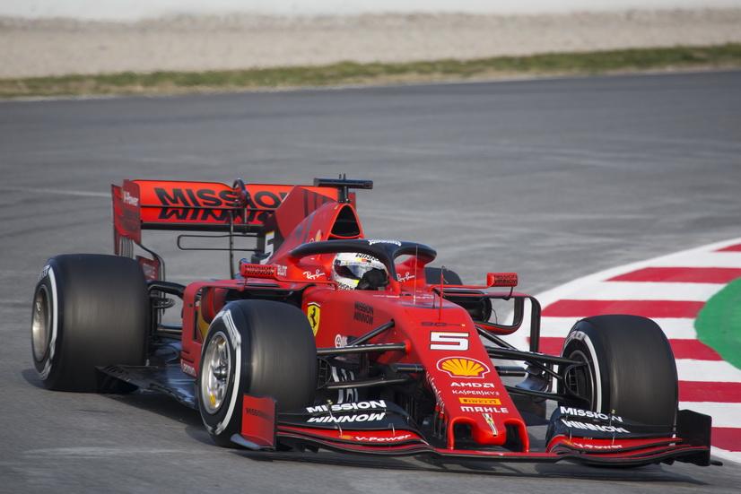 Test F1 (18-2): Vettel el más rápido y Sainz segundo