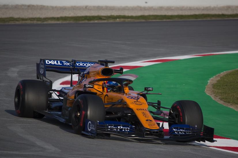 Test F1 (18-2): Sainz marcó el segundo mejor tiempo con el MCL34