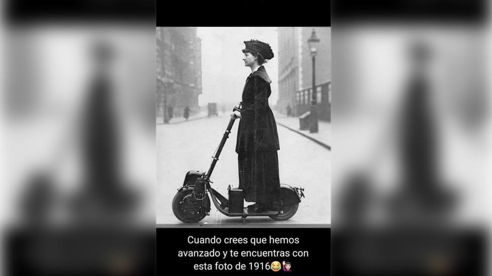 ¿Somos tan modernos? La historia del patinete con motor de 1915