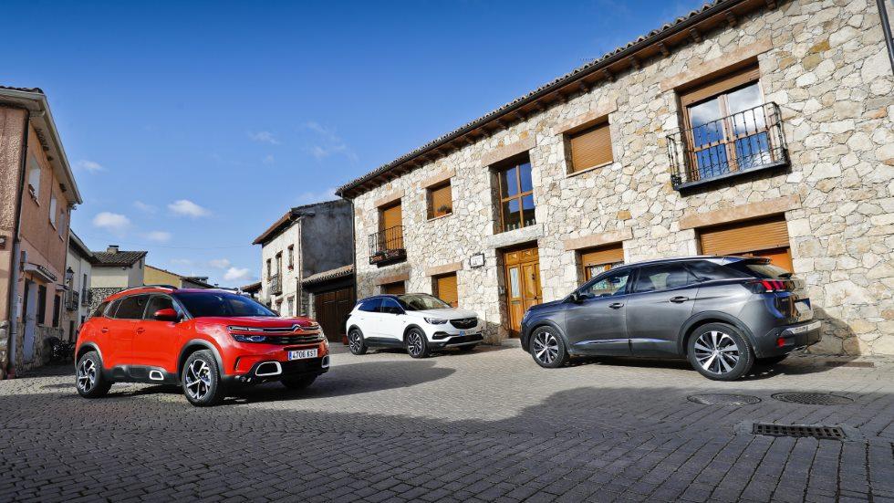 Citroën C5 Aircross, Opel Grandland X y Peugeot 3008: ¿qué SUV Diesel es mejor?