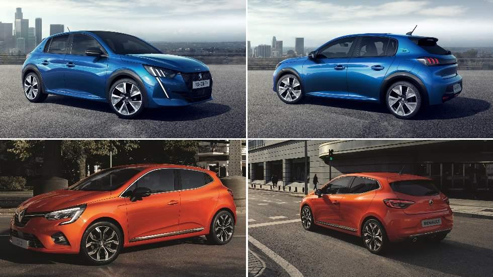 Peugeot 208 y Renault Clio 2019: duelo en VÍDEO entre los nuevos utilitarios